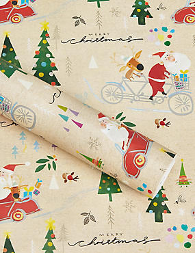 Santa and Friends 15m Christmas Wrapping Paper