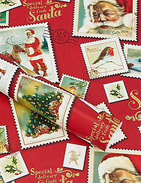 Traditional Santa 4m Christmas Wrapping Paper