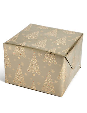 Hollywood Gold Tree 3m Christmas Wrapping Paper