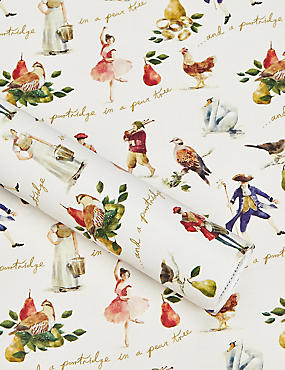 Twelve Days of Christmas 4m Christmas Wrapping Paper