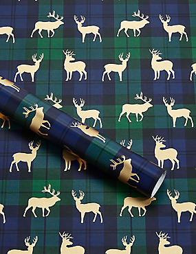 Blue & Green Tartan Christmas Wrapping Paper
