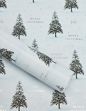 Photographic Christmas Trees 3m Wrapping Paper