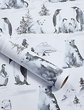 Nordic Noel Winter Animals 3m Wrapping Paper