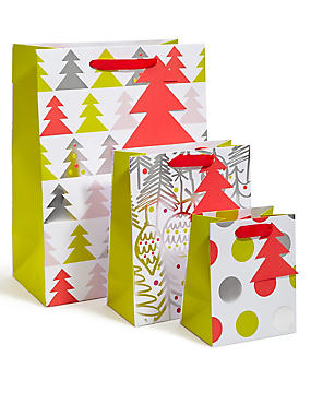 Contemporary Set of 3 Gift Bags