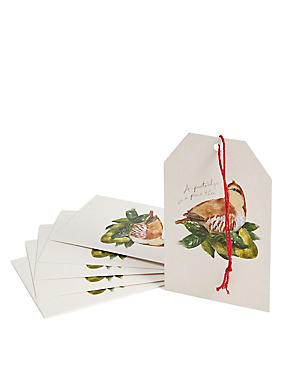 Joyeux Noel 6 12 Days of Christmas Gift Tags
