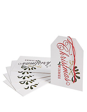 Joyeux Noel 6 Red Foliage Gift Tags