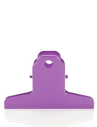Large Purple Metal Clip Home
