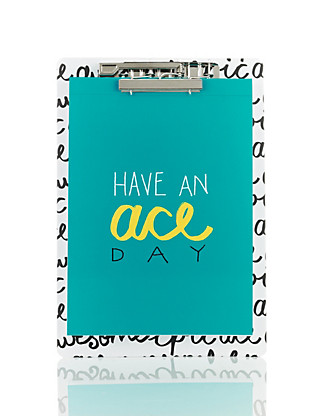 Contemporary Text Have An Ace Day Notepad Clipboard Home
