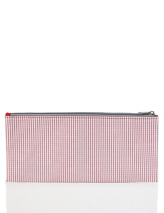 Large Red Gingham Pencil Case Home