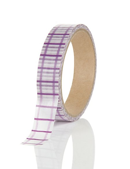 Large Purple Printed Tape