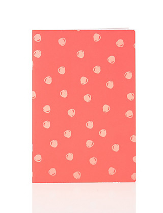 Boutique Spotty Red B5 Exercise Book Home