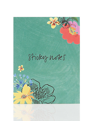 Floral Rio Sticky Notes Home
