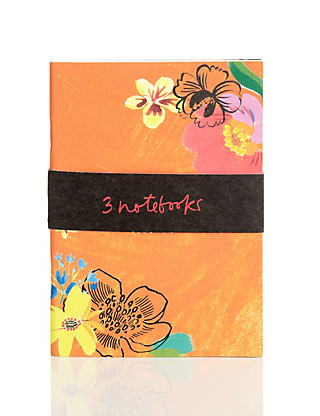 Floral Set of 3 Mini Rio Notebooks Home