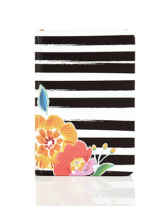 Small Striped Floral Rio Notebook Home