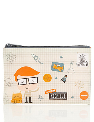 Tidy Tom Fabric Pencil Case Home