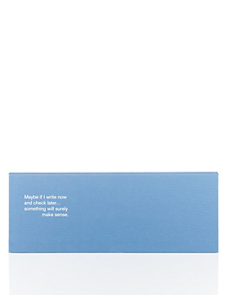 Blue Hardcover Desktop Notepad Home