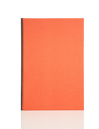 Orange Hardcover Lined Notebook Home