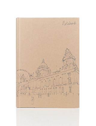 Classic Illustrated Kraft Notebook Home