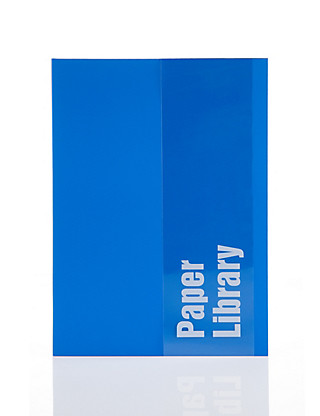 A5 Blue Soft Touch Notebook Home