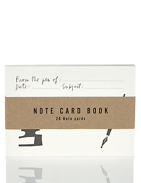 Note Card Book