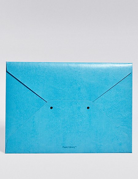 Blue A4 Envelope Folder