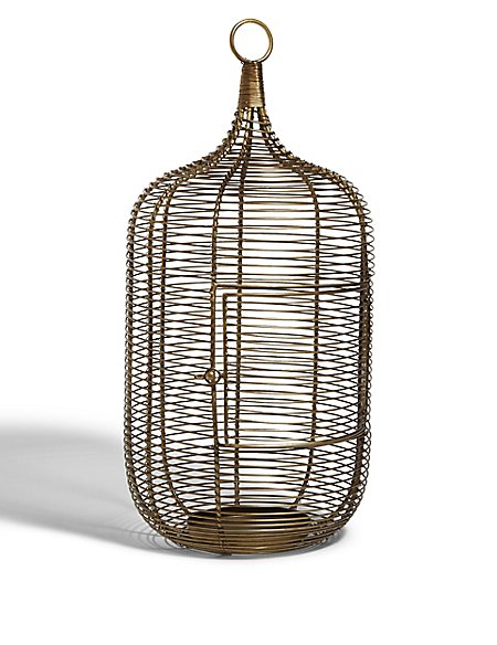 Tall Birdcage Candle Holder
