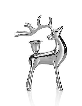 Solid Brass Stag Dinner Candle Holder