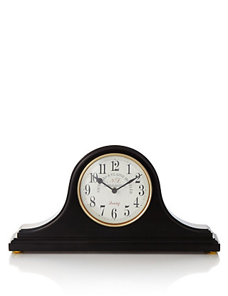 Large Gloss Napoleon Mantel Clock Home