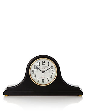 Large Gloss Napoleon Mantel Clock