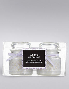 White Jasmine Small Jar Set