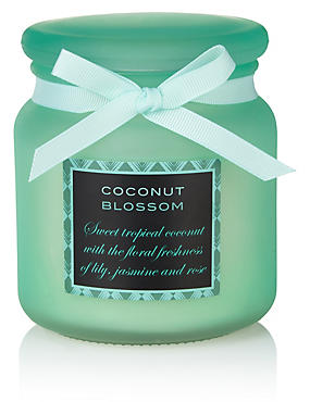 Coconut Blossom Large Filled Candle