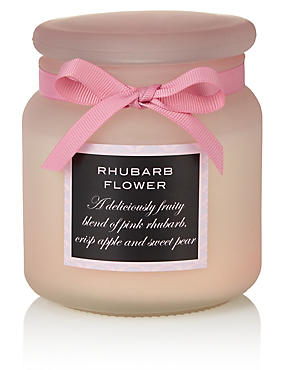 Rhubarb Flower Large Filled Candle