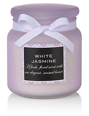 White Jasmine Large Filled Candle