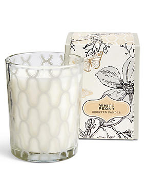 White Peony Boxed Candle