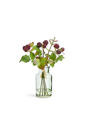 Eucalyptus And Blacberry Vase