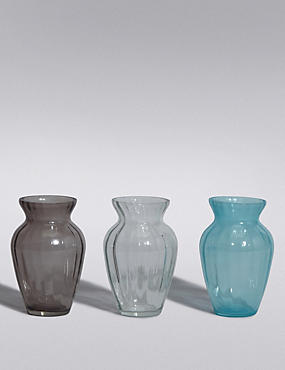 3 Coloured Posey Vases