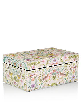 Floral Birds Trinket Box