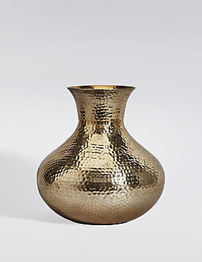 Short Hammered Vase