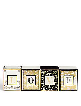 LOVE Mini Letter Scented Candle Set