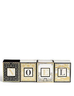 NOEL Mini Letter Scented Candle Set