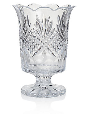 Pressed Glass Hurricane Candleholder
