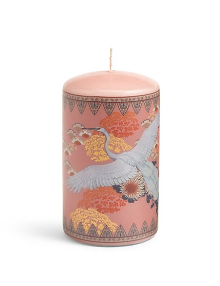 Medium White Heron Pillar Candle