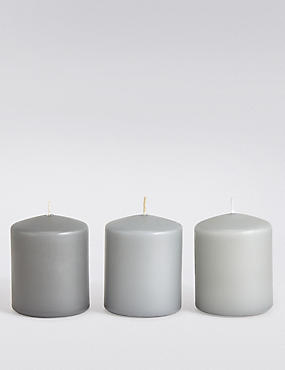 Set Of 3 Tonal Pillar Candles