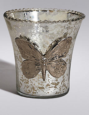Butterfly Glass Tea Light Holder