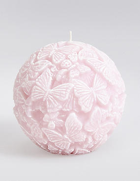 Butterfly Ball Candle