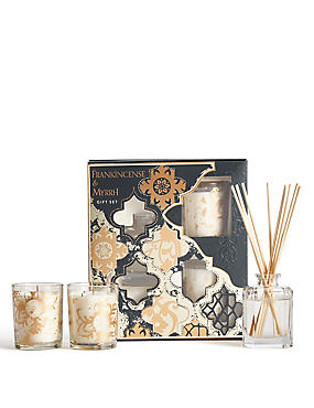 Frankincense & Myrrh Diffuser & Candle Gift Set