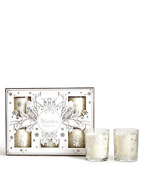 Winter Scented Set of 6 Votives