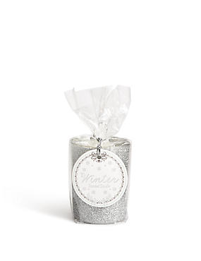 Winter Scented Glitter Gift Candle