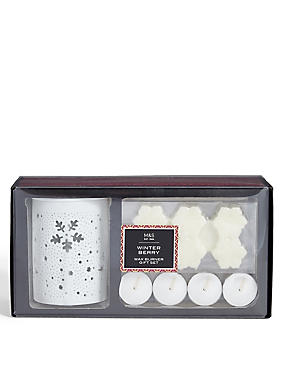 Winter Berry Wax Warmer Gift Set
