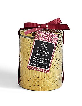 Winter Berry Lidded Filled Candle